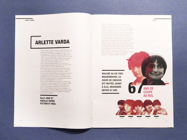 Journal sur Agnes Varda - print - data design