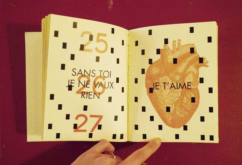 Juliette Seban – 2016 calendrier – édition – violences conjugales violences contre les femmes
