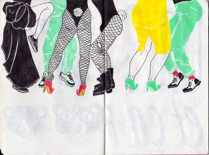 Juliette Seban – Carnet de croquis – Danseurs in NYC