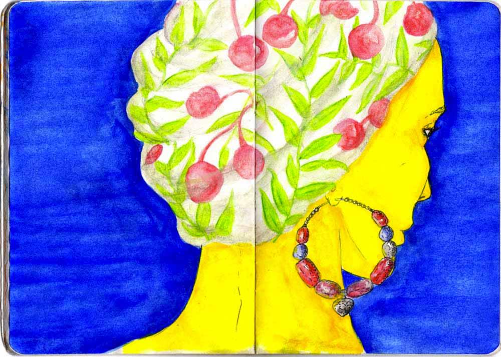 Juliette Seban – les carnets – foulard