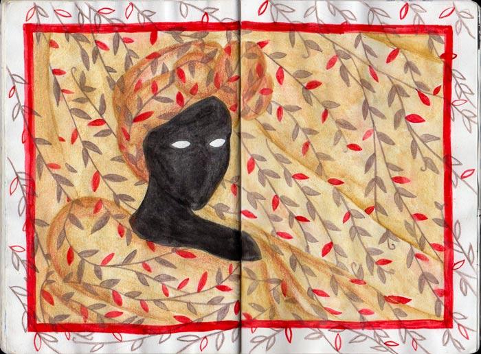 Juliette Seban – Carnet de croquis – Silhouette noire