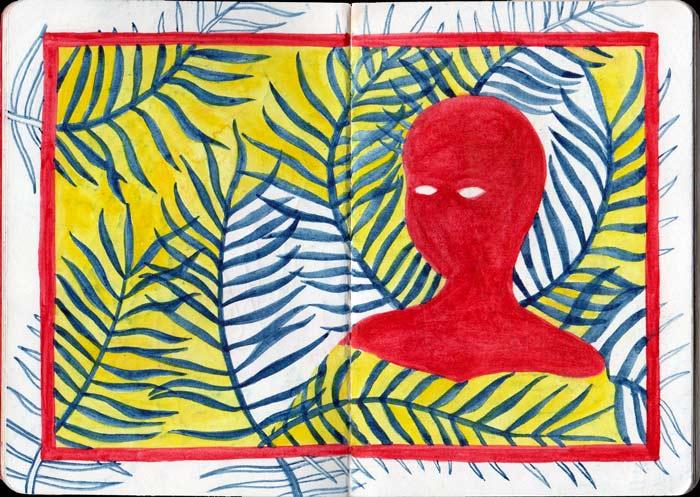 Juliette Seban – Carnet de croquis – Silhouette rouge