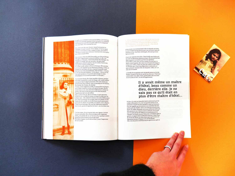 Juliette Seban – Edition – récit biographique de ma grand-mère – layout