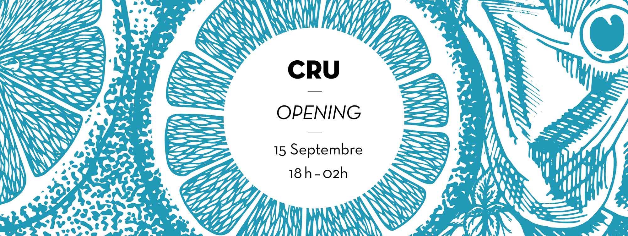 Juliette Seban – Cru restaurant – branding – flyer