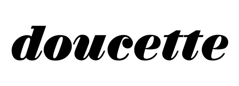 Typographie doucette