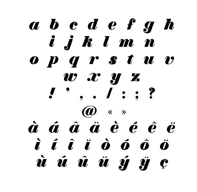 Typographie doucette – specimen