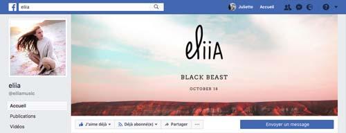 Juliette Seban – facebook Eliia – cover