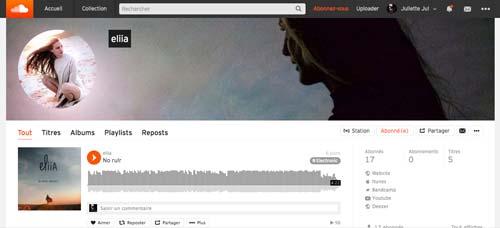 Juliette Seban – soundcloud Eliia – cover