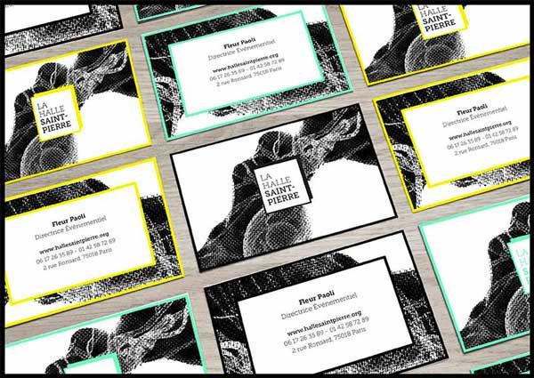 Juliette Seban – Affiche d'exposition – branding Halle Saint Pierre – carte de visite