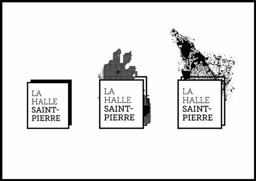 Juliette Seban – Affiche d'exposition – branding Halle Saint Pierre – logo