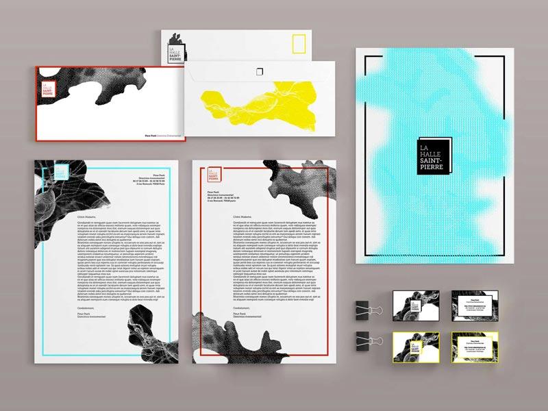Juliette Seban – Affiche d'exposition – branding Halle Saint Pierre – papeterie