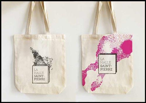 Juliette Seban – Affiche d'exposition – branding Halle Saint Pierre – tote bag