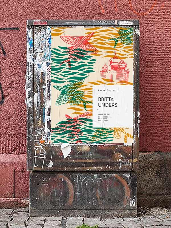 Juliette Seban - Horde Paris - Cruise s02 -affiche poissons