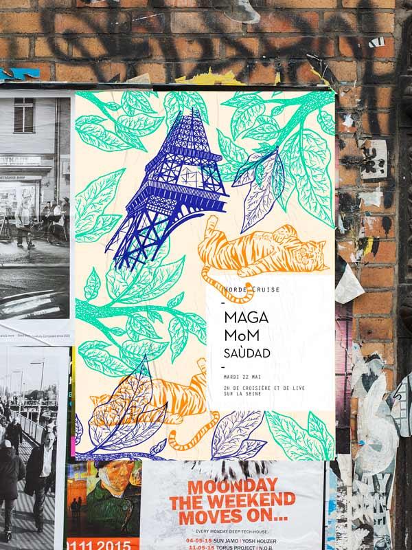 Juliette Seban - Horde Paris - Cruise s02 -affiche tigre