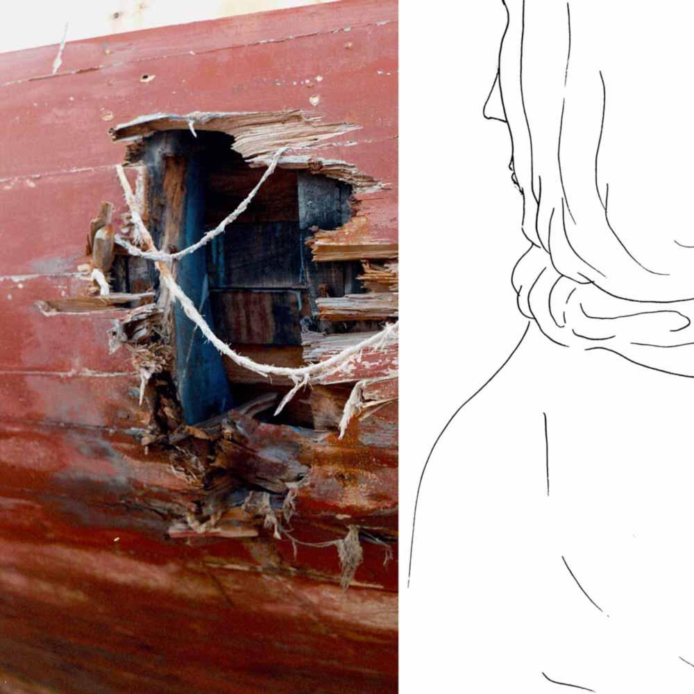 Juliette Seban – lampedusa – dessins et photos – Femme