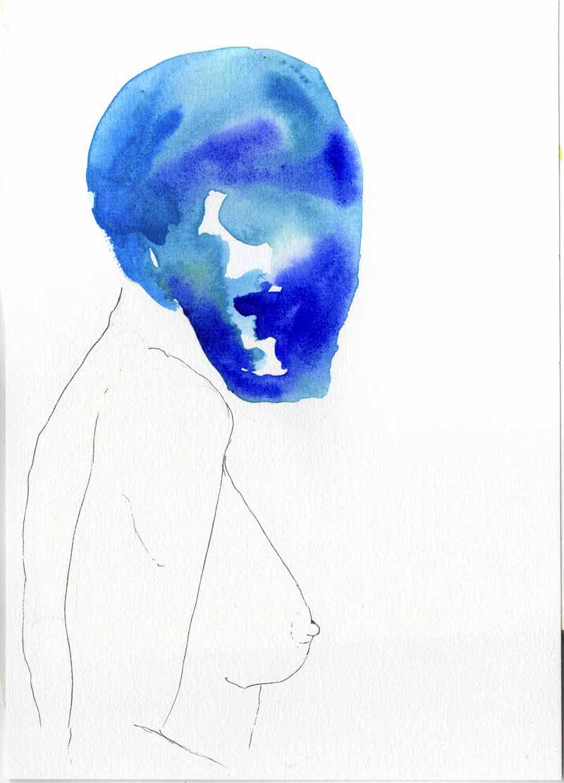 Juliette Seban – Les masques – la femme bleue
