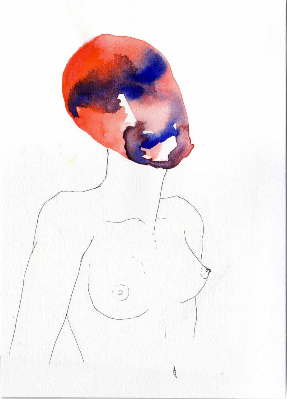 Juliette Seban – Les masques – la femme rouge
