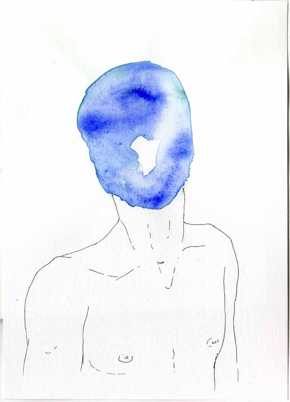 Juliette Seban – Les masques – l'homme bleu