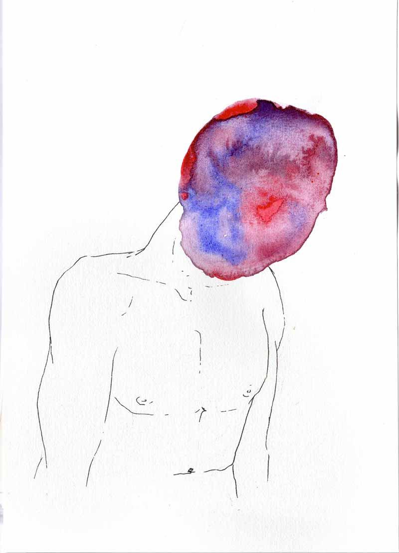Juliette Seban – Les masques – l'homme violet