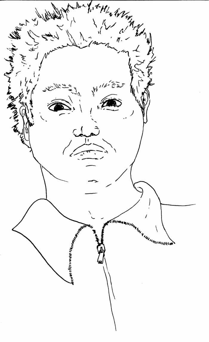 Juliette Seban – dessins au rotring – portraits Yahya