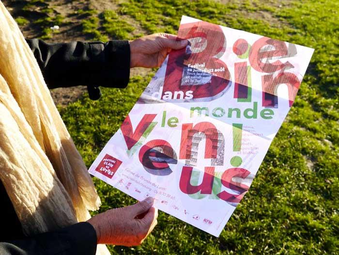 Juliette Seban – Affiche pour le festival Clair de Luttes, sur le plateau du Larzac