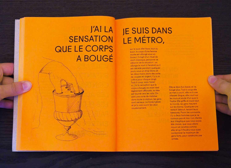 Juliette Seban – Il change sa tête et met un masque – Illustration livre des rêves – le métro