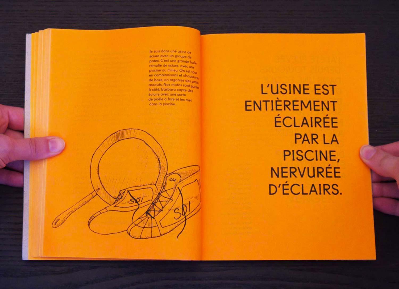 Juliette Seban – Il change sa tête et met un masque – Illustration livre des rêves – les éclairs