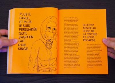 Juliette Seban – Il change sa tête et met un masque – Illustration livre des rêves – le singe