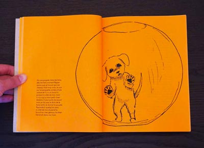 Juliette Seban – Il change sa tête et met un masque – Illustration livre des rêves – le bocal