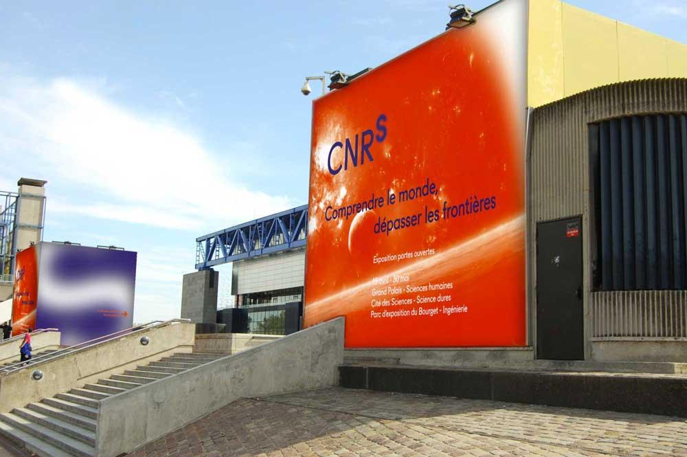 Affiche - Branding pour le CNRS, nouveau logo, nouvelle charte, conception graphique