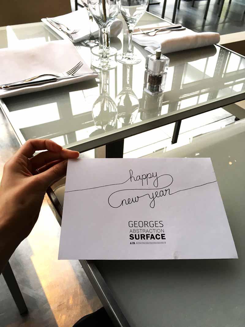 Juliette Seban – illustration – le Georges restaurant – Musée Georges Pompidou, Beaubourg, Paris – menu fermé