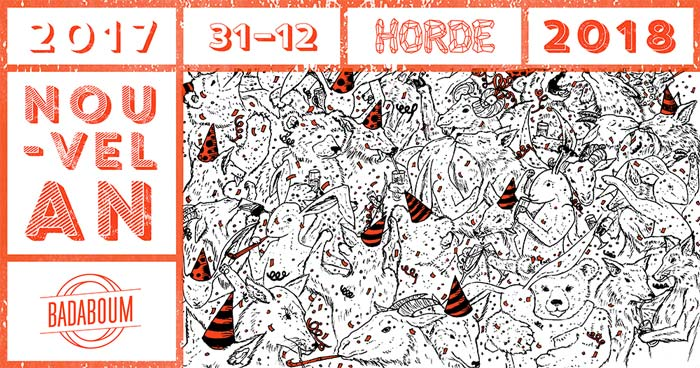 Juliette Seban – Illustration – Horde Paris – flyer du nouvel an