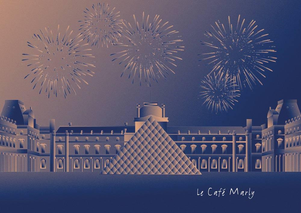 Juliette Seban – Illustration pour le Café Marly – Nouvel An
