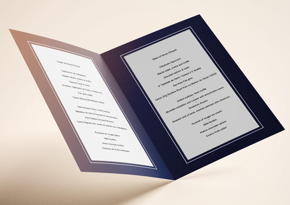 Juliette Seban – Illustration pour le Café Marly – Nouvel An – print