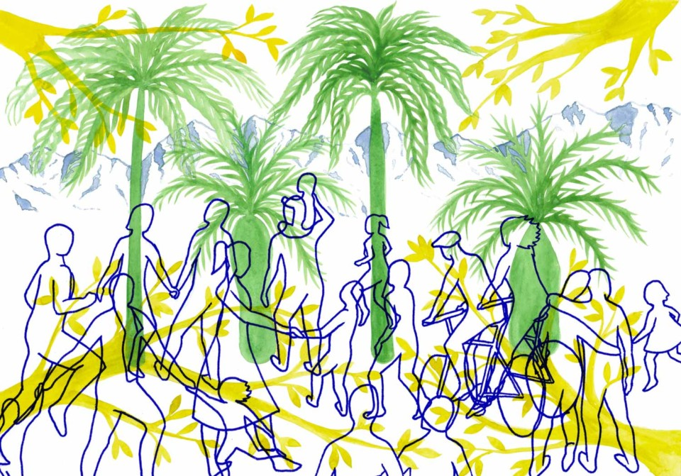 Juliette Seban – Parc Jaussely – Illustration originale