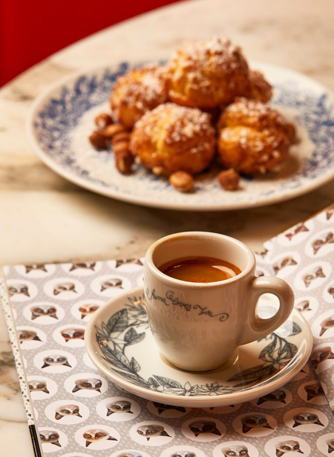 Juliette Seban – Mama Shelter – Assiette à dessert et café