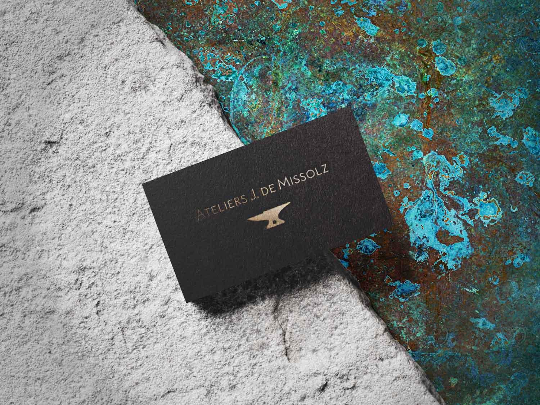Juliette Seban – Ateliers J. de Missolz – cartes de visite