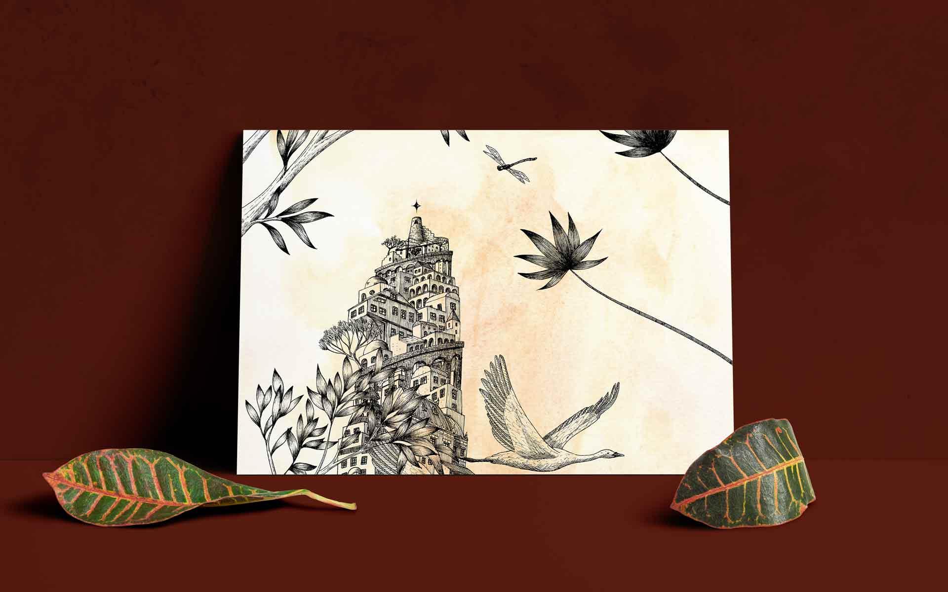 Juliette Seban – Babel Hôtel Belleville – Carte postale