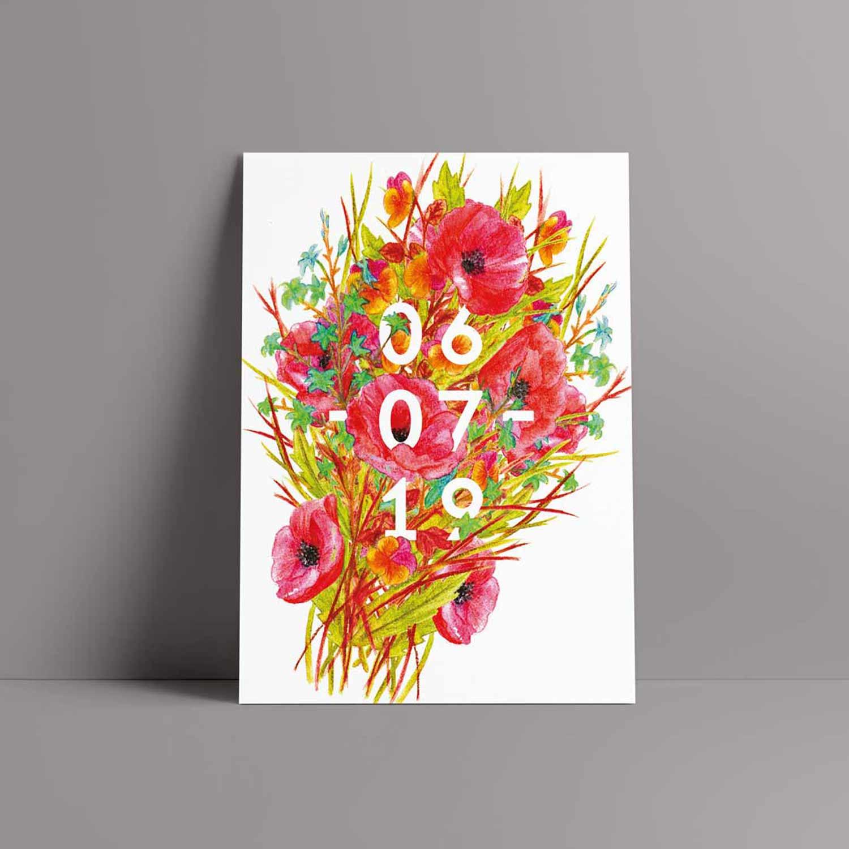 Juliette Seban – Lily – Illustration florale – Faire-part de mariage